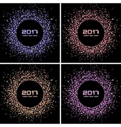 Bright Confetti New Year circle Backgrounds vector image vector image