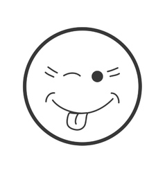 Cartoon face icon Circle design graphic vector image