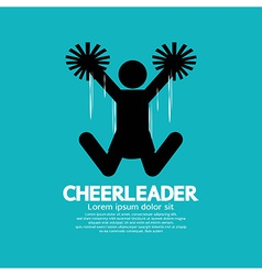 Cheerleader Graphic Symbol vector image