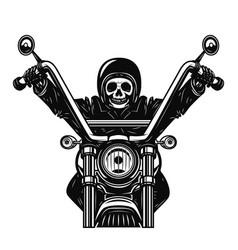 dead man on the motorcycle motorbike racer design vector image
