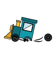 Isolated toy train damaged design vector image