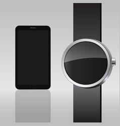 Smart electronic intelligence watch phone vector