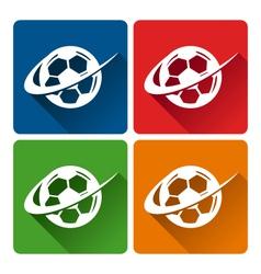 Soccer logo icons vector