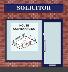 Solicitor House Conveyancing vector image vector image