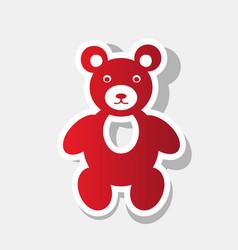 teddy bear sign new year vector image