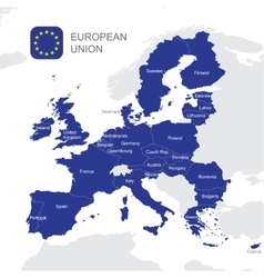 The European Union map vector image vector image