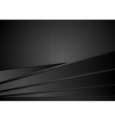 Abstract black striped corporate background vector image