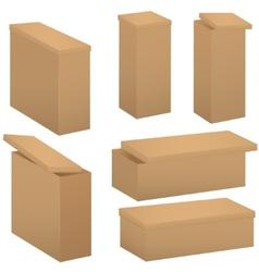 Box set vector image vector image