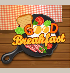 English breakfast vector image