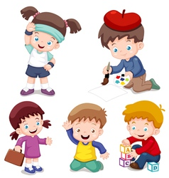 Kids characters vector image vector image