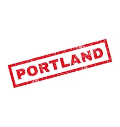 Portland Rubber Stamp vector image vector image