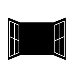 window open isolated icon vector image