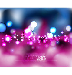 Abstract bokeh vision pink background design vector