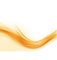 Abstract orange wave wave flow background vector