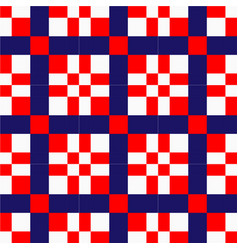 abstract red white blue square pattern imag vector image