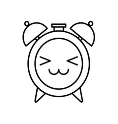 Alarm clock kawaii character vector
