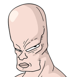bald man vector image