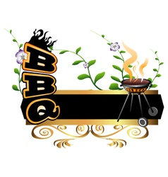 BBQ background vector