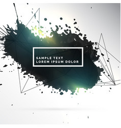 black ink patch abstract background vector image
