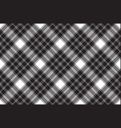 Black white classic check plaid seamless pattern vector