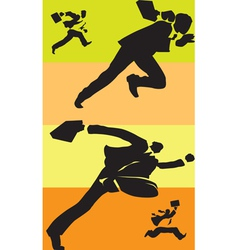 Businessmen in race vector image