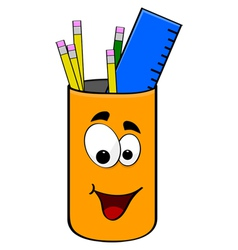 Can of pencils vector image