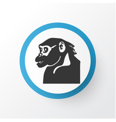 chimpanzee icon symbol premium quality isolated vector image
