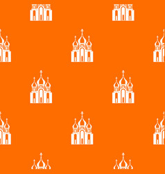 church building pattern seamless vector image