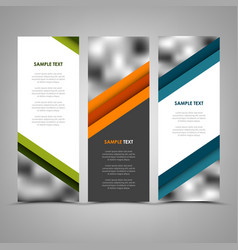 collection abstract banners with color helical vector image