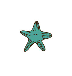 colorful starfish icon stock vector image vector image