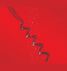corkscrew in wine vector image
