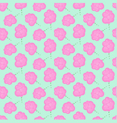 Cotton candy floss seamless pattern vector