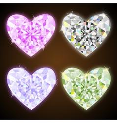 diamond hearts vector image