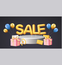 discounts poster banner for retail shopping vector image