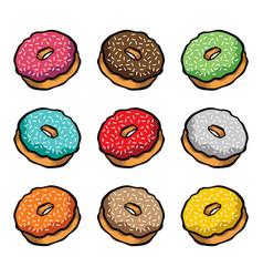 Doughnut cartoon icon vector