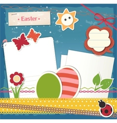 Easter scrapbook set vector image vector image