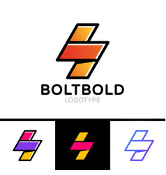 electrical logo concept lightning bolt minimal vector image