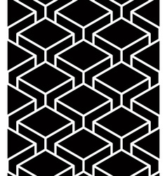 Endless monochrome symmetric pattern graphic vector image