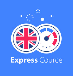 English language learning express course vector