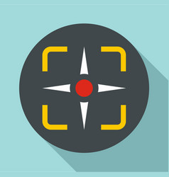 fighter target icon flat style vector image