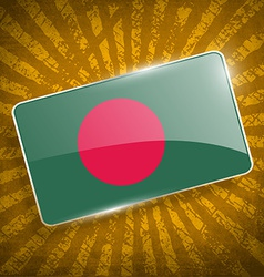 Flag of Bangladesh with old texture vector