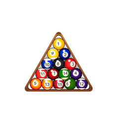 Flat billiard ball pyramid in triangle vector