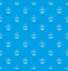 Fossilized lizard pattern seamless blue vector