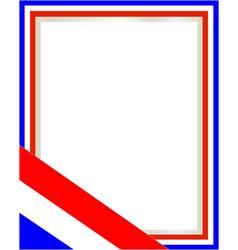 French flag symbol patriotic border vector