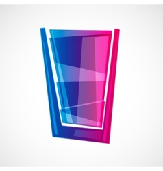 glass with drink vector image