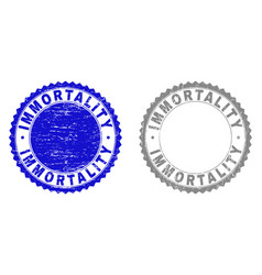 Grunge immortality textured stamps vector