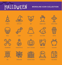 halloween icon white vector image