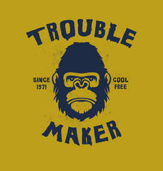 Hand drawn trouble maker vector