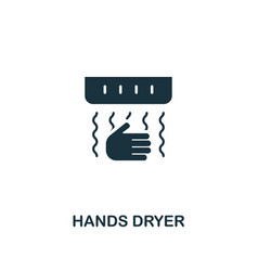 Hands dryer icon premium style design from vector