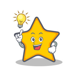 Have an idea star character cartoon style vector